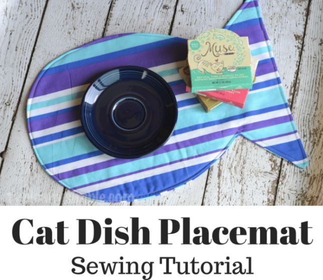 Typically Simple-cat dish placemat tutorial