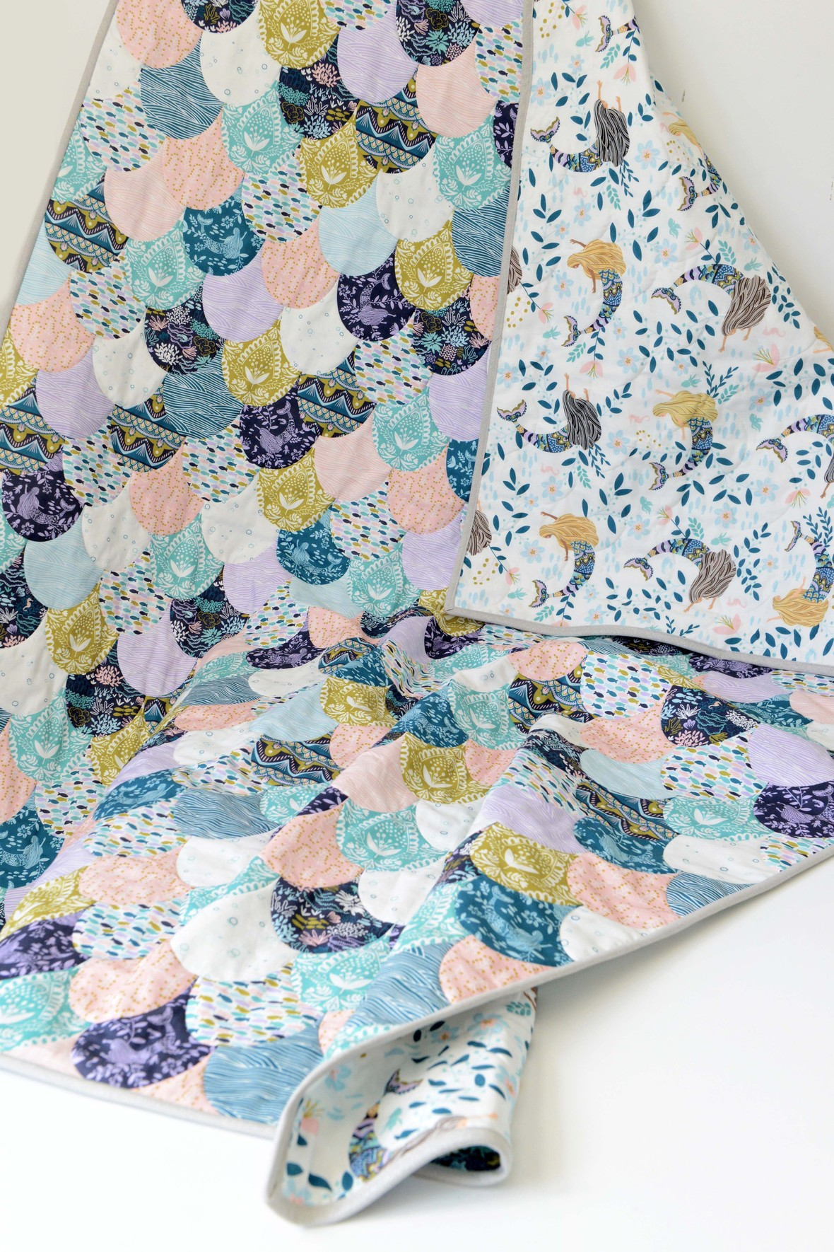 Siren Song Faux Patchwork Mermaid Quilt