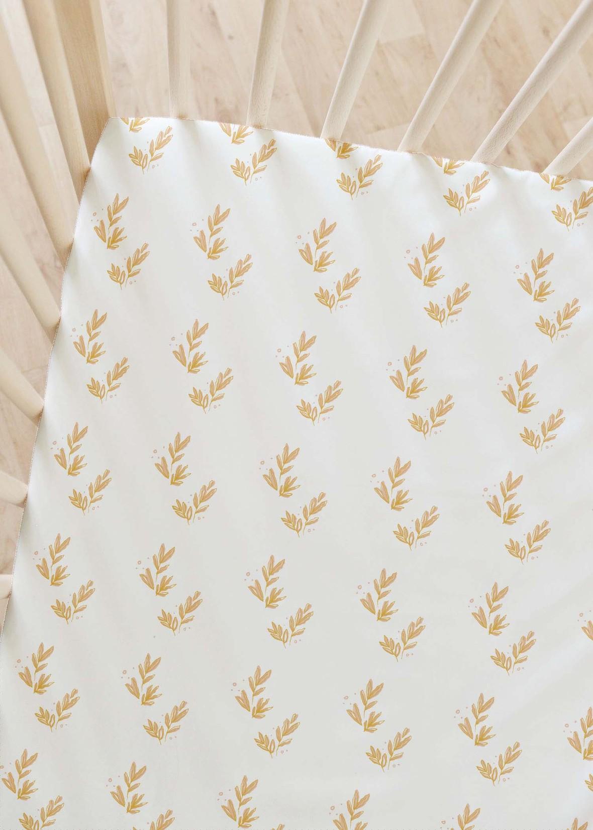 Floret in White new crib sheet