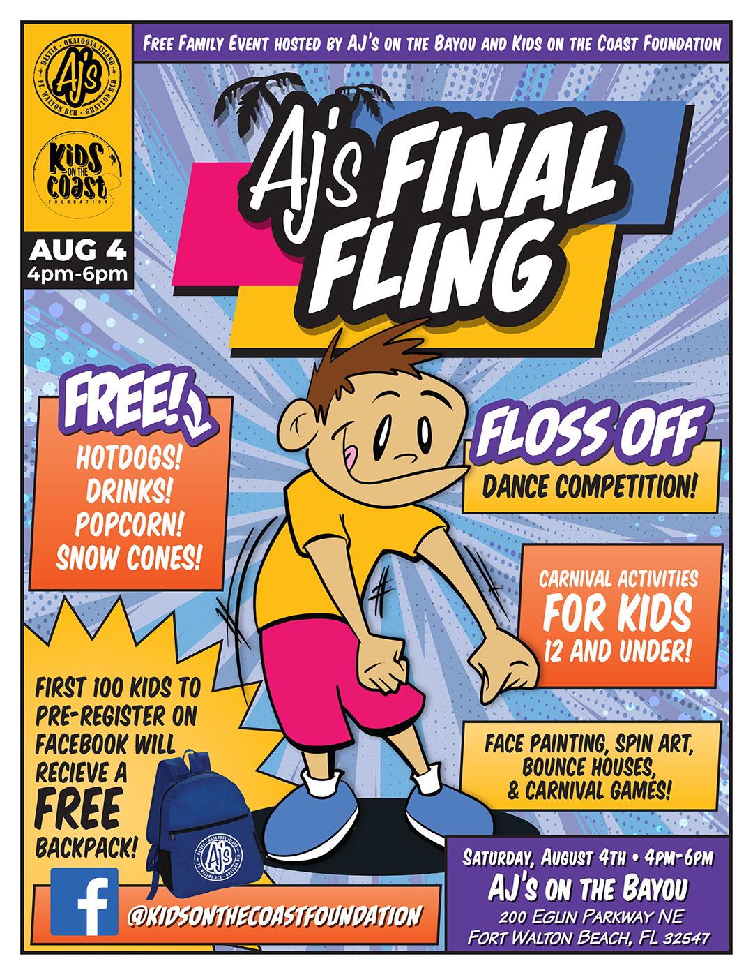 Final Fling 2018 Flyer