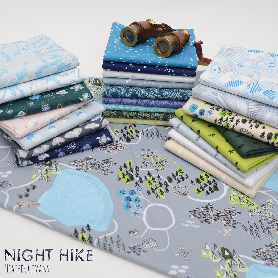 Night Hike Fabric Poster