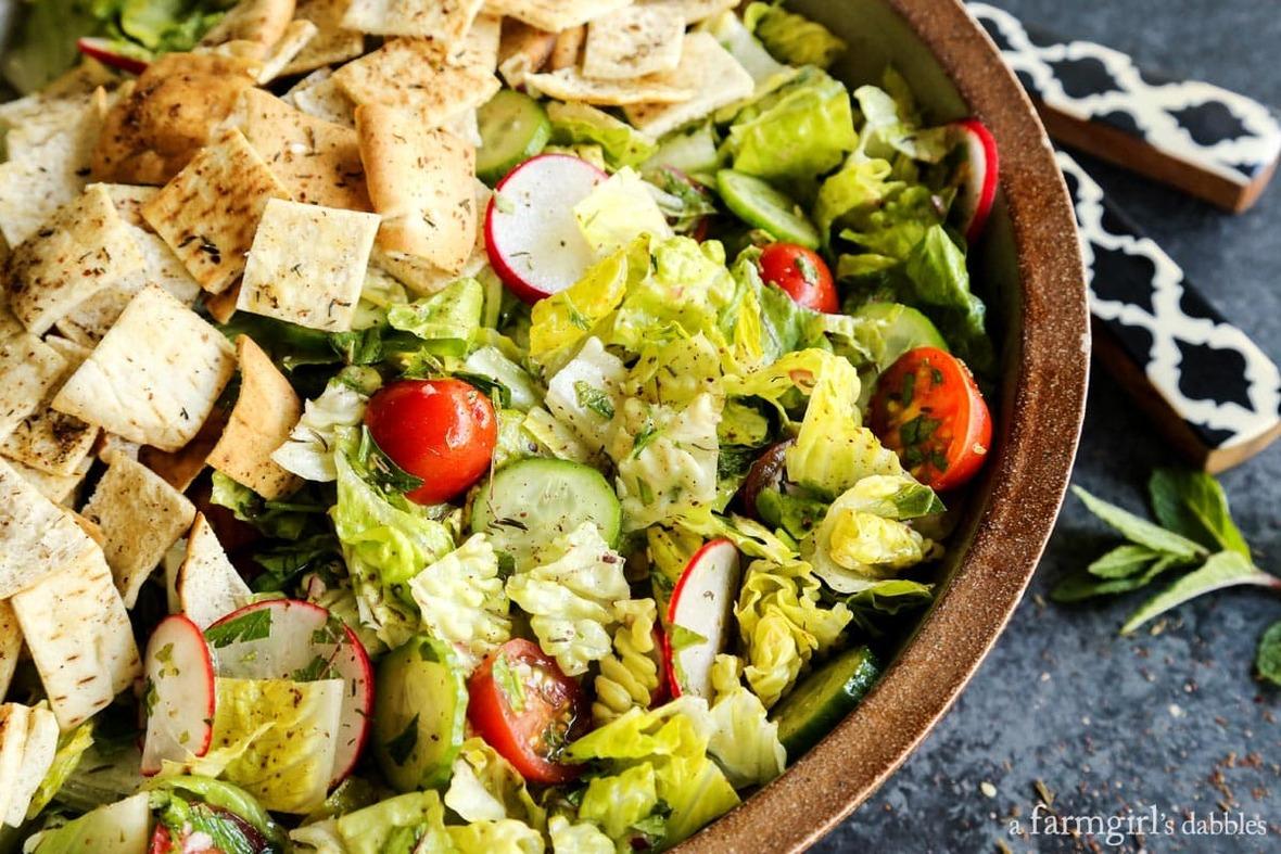 Fattoush-Salad AFarmgirlsDabbles AFD-6