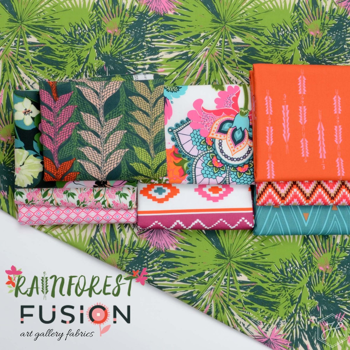 Rainforest Fusion Fabric Poster Art Gallery Fabrics at Hawthorne Supply Co