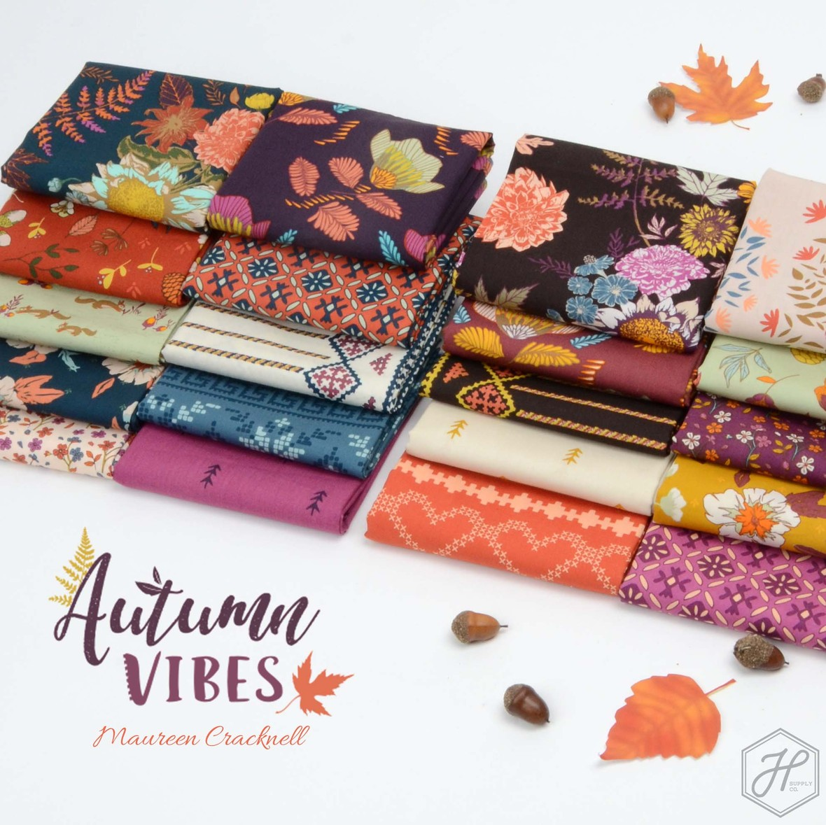 Autumn Vibes Fabric Poster Maureen Cracknell at Hawthorne Supply Co