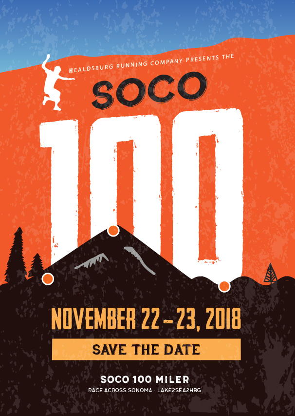 SoCo 100 miler logo poster