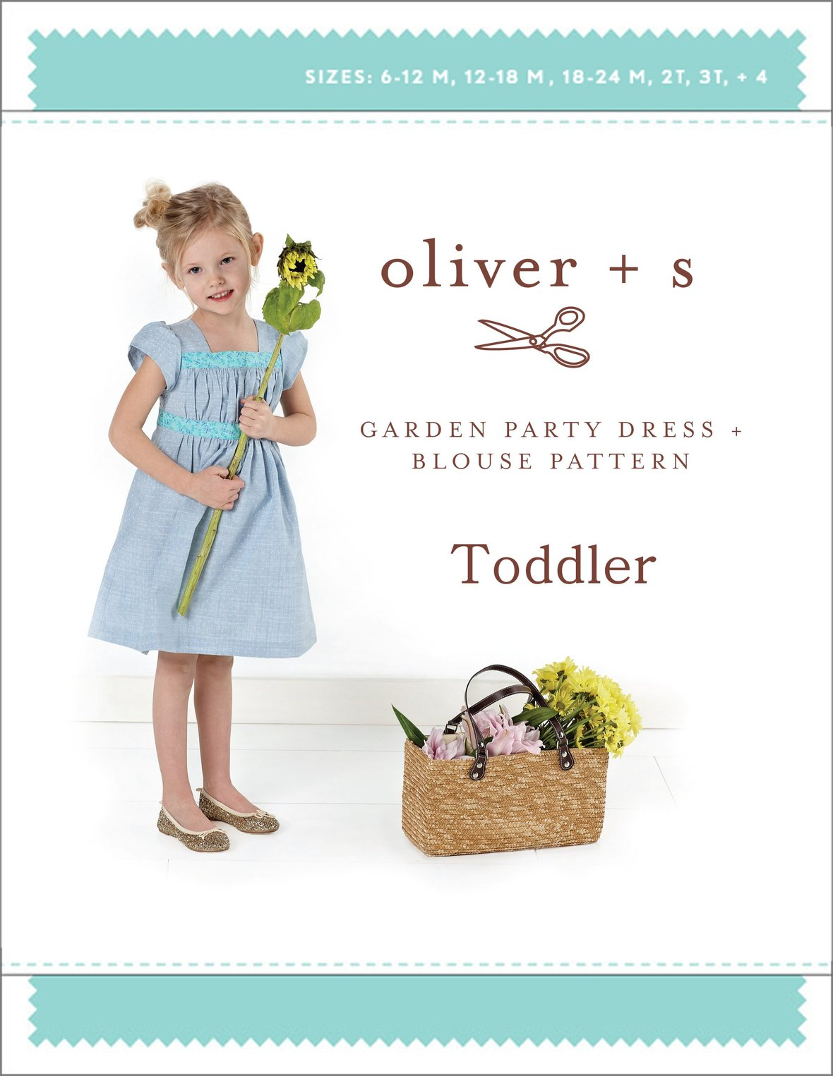 oliver and s  toddler garden party dress and blouse sewing pattern