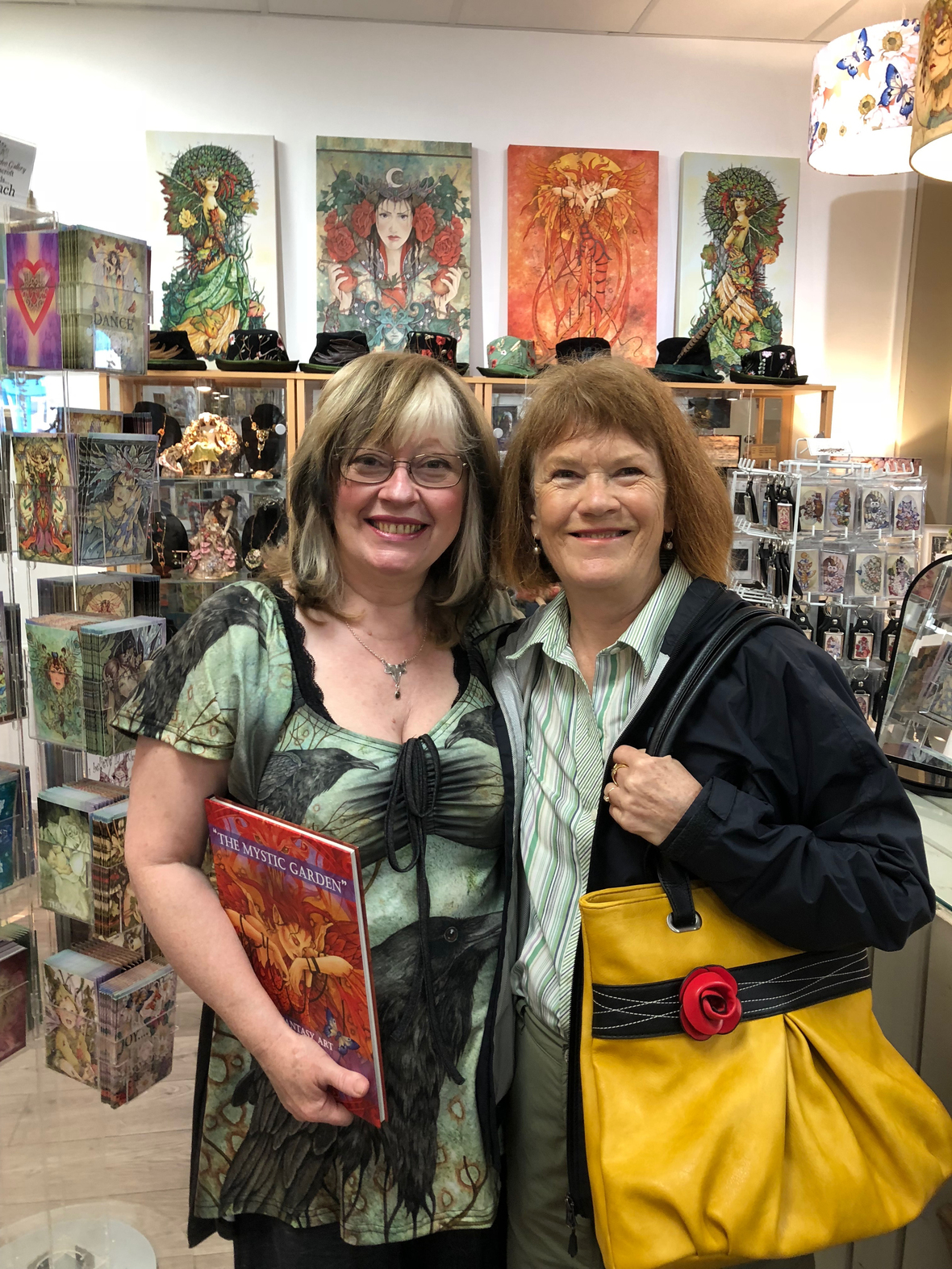 well-loved fairy painter Linda Ravenscroft and Tanis