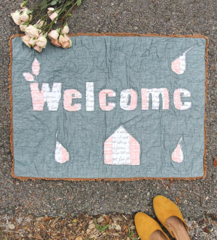 Gathered Welcome Mat