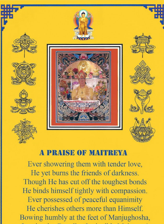 Tsadong Prayer to Maitreya