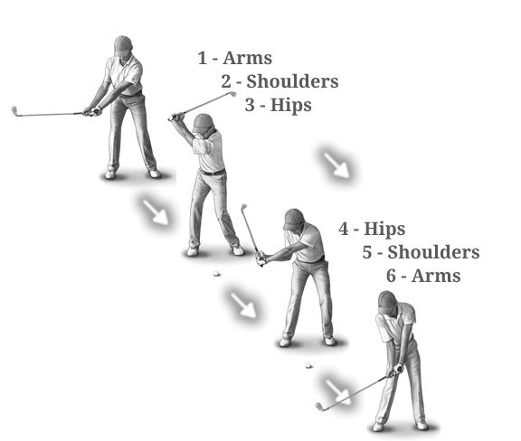swing arms-shoulders-hips