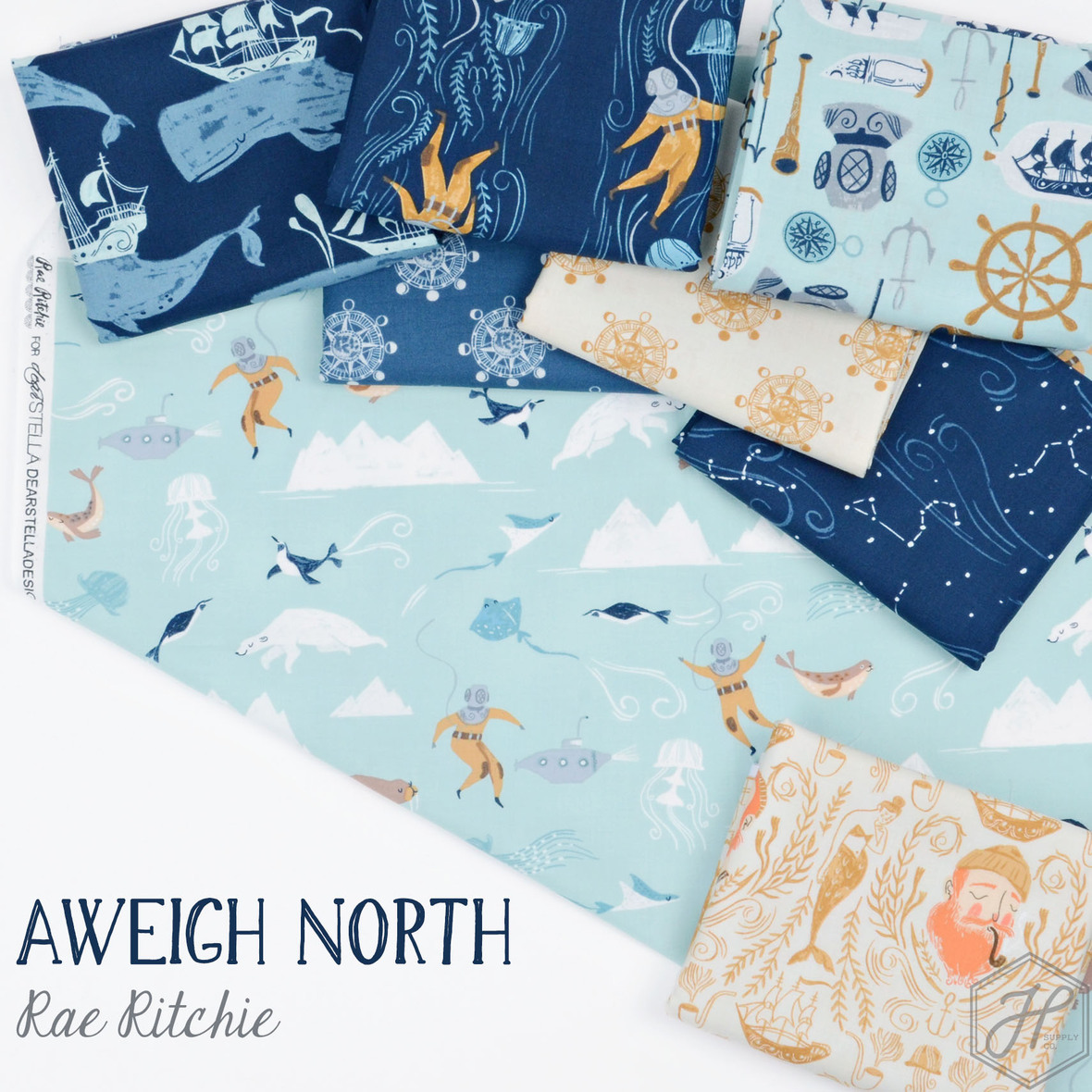 Aweigh North Fabric Poster b