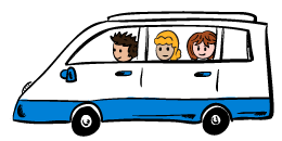 van with people