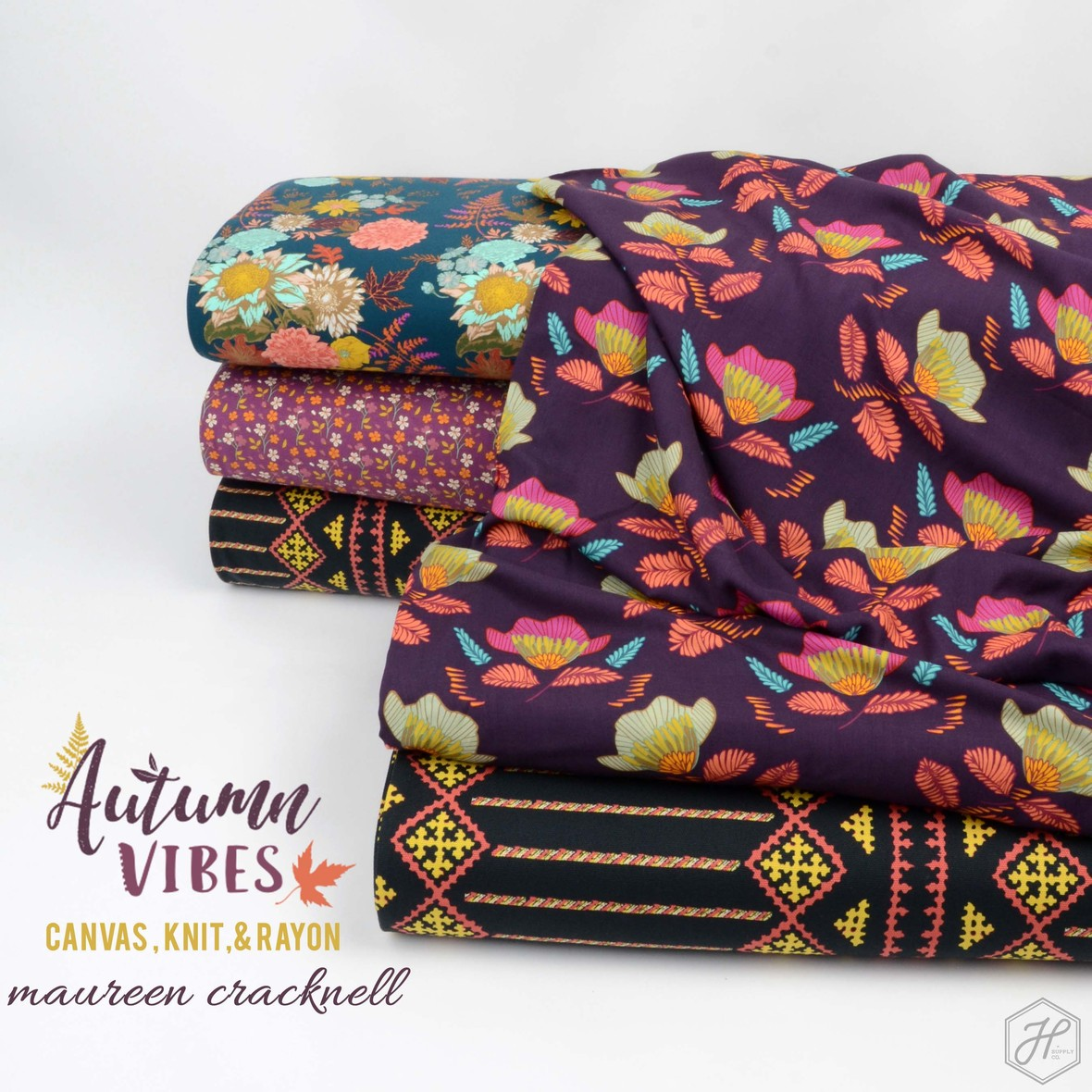 Autumn Vibes  Canvas Knit and Rayon  Maureen Cracknell at Hawthorne Supply Co
