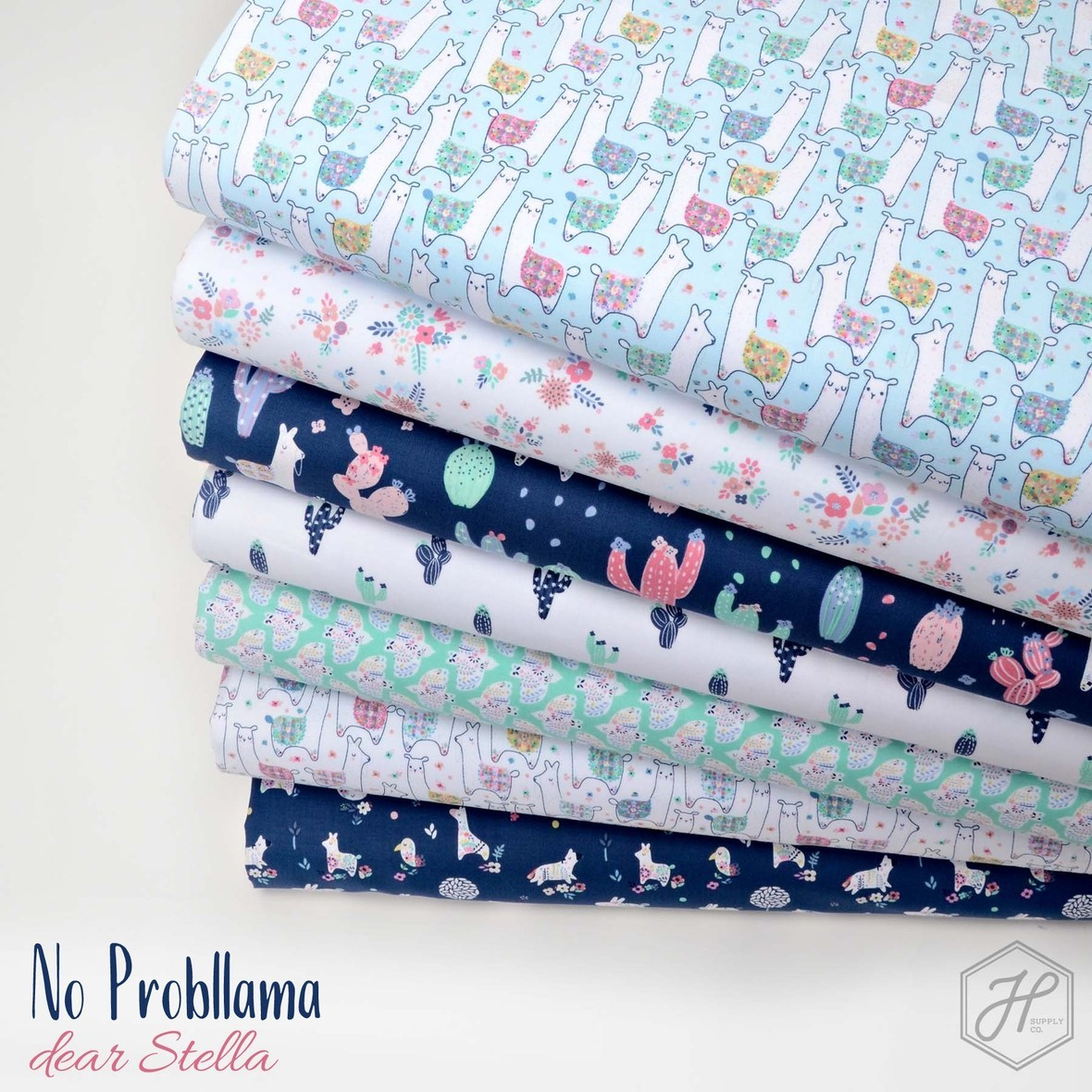 No Probllama Fabric poster with logo