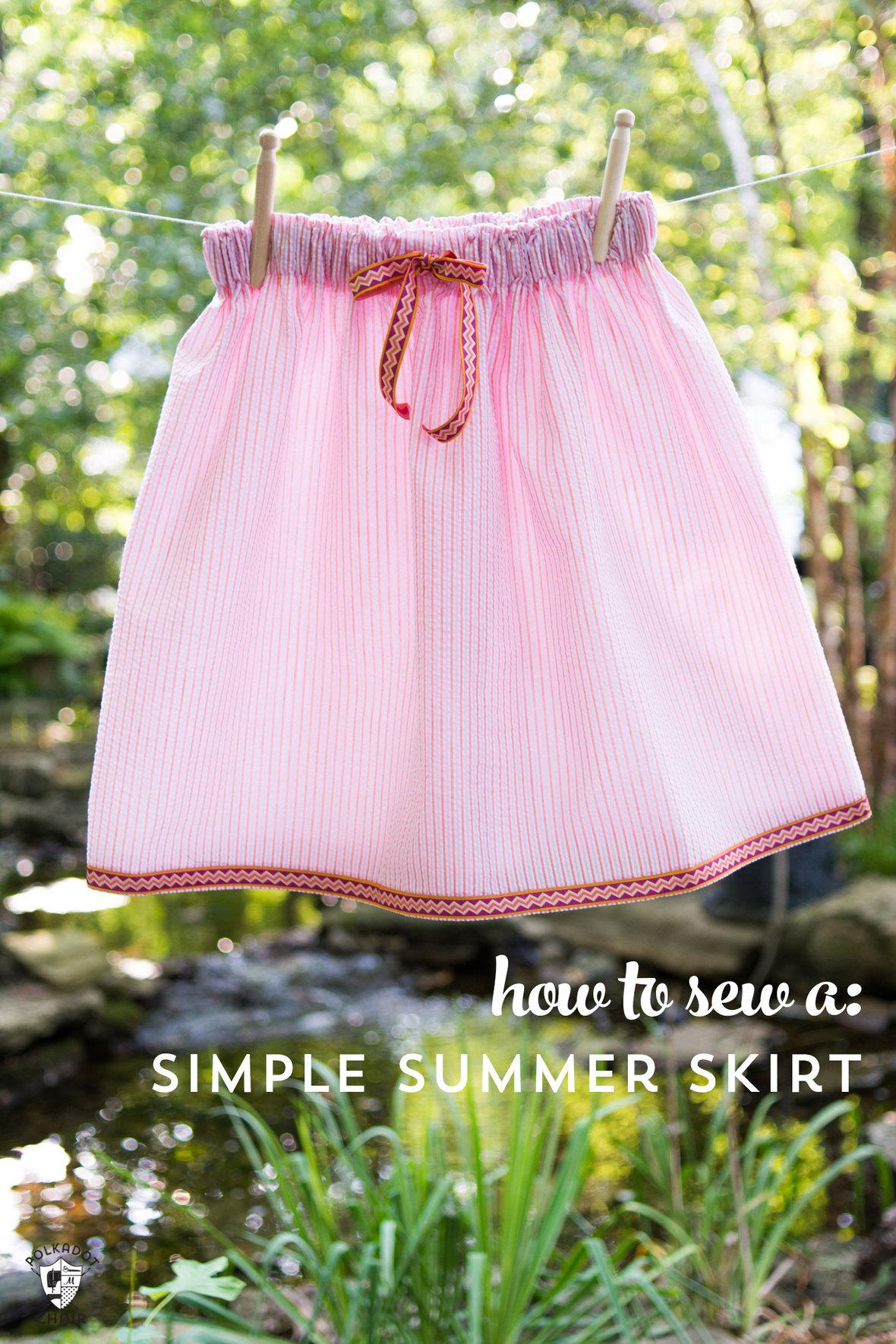 Polka dot chair- sew-simple-summer-skirt - free tutorial