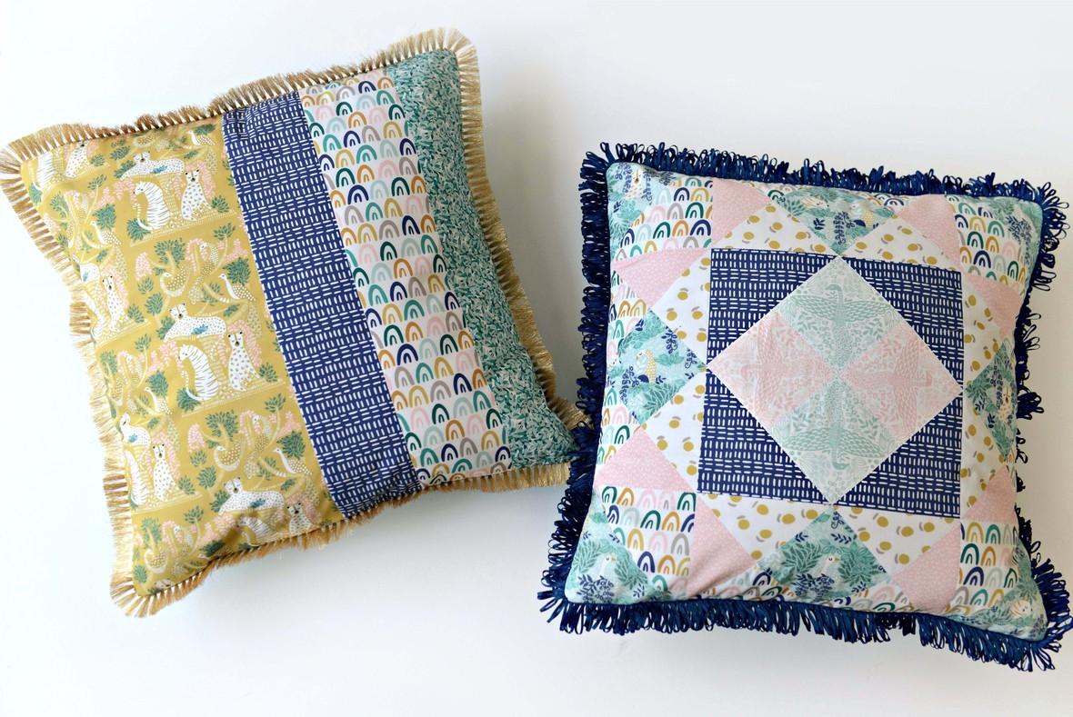 Jaguar Jungle Fabric Pillow set c