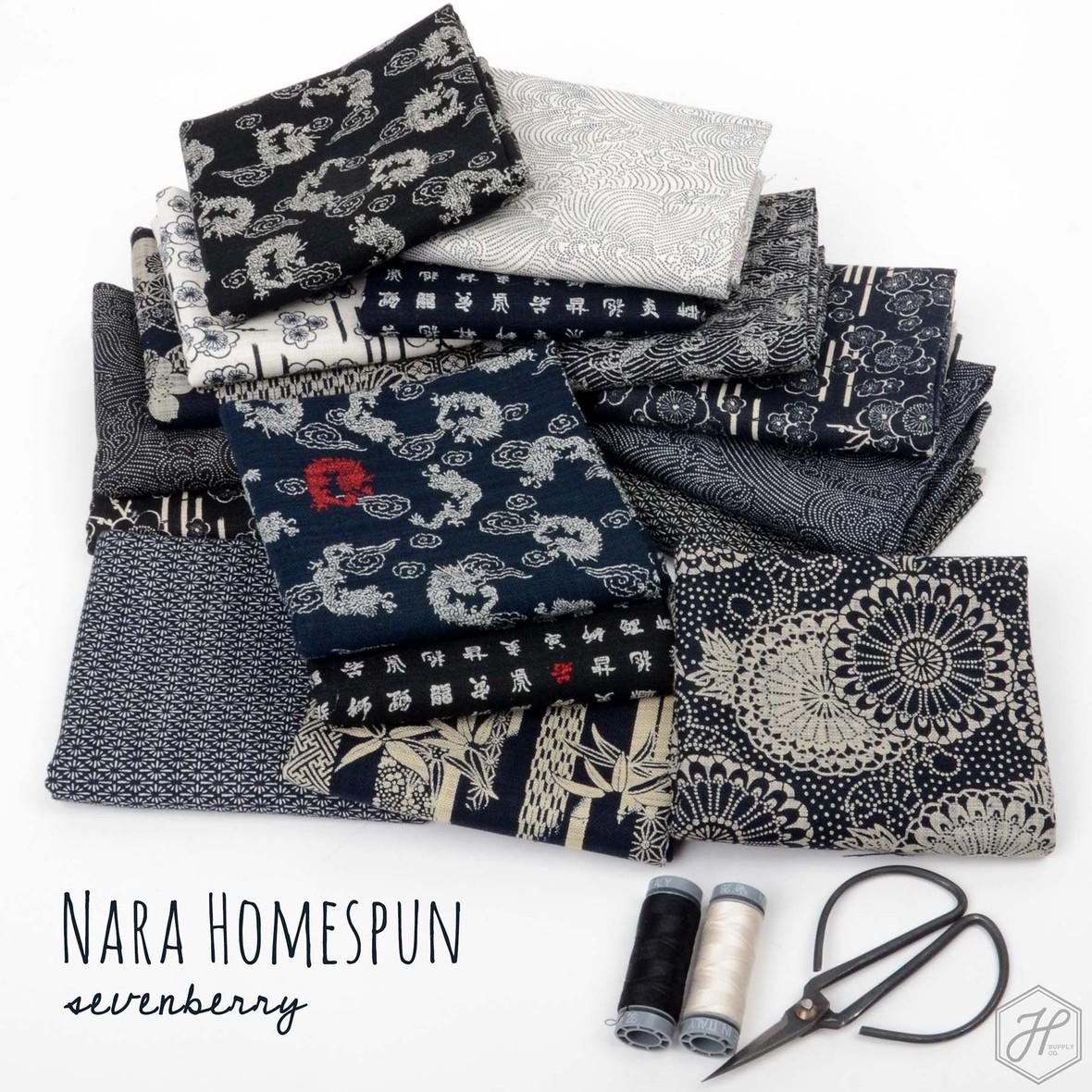 Nara Homespun 2 Sevenberry Fabric Poster Hawthorne Supply Co