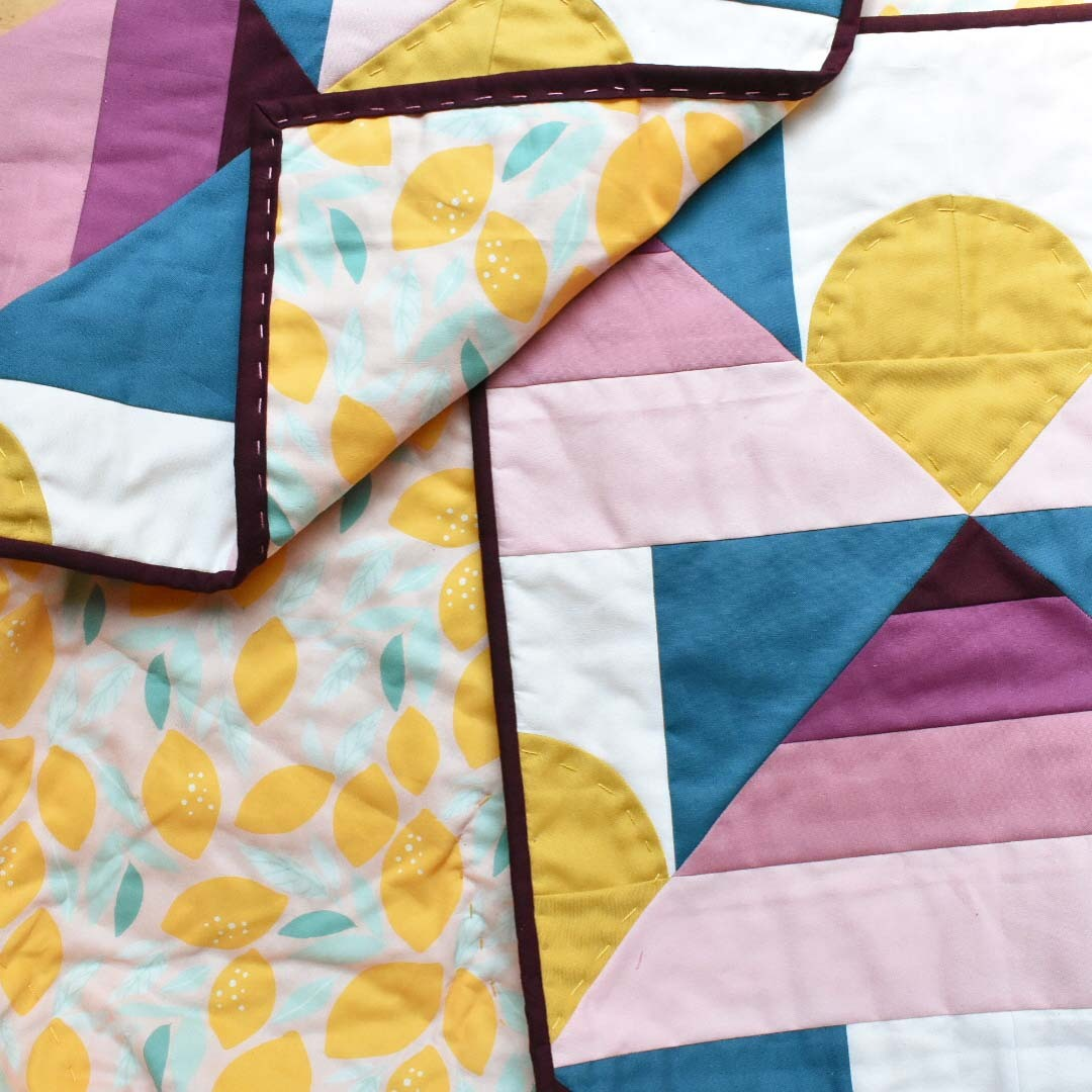 Loandbehold Quilt featuring Indy Bloom Bitter Sweet Lemons from Hawthorne Supply Co