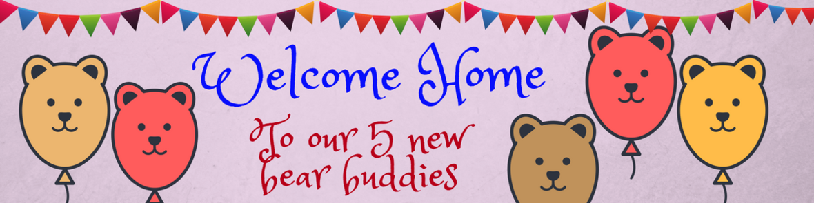 Welcome Home to our 5 new Bear buddies