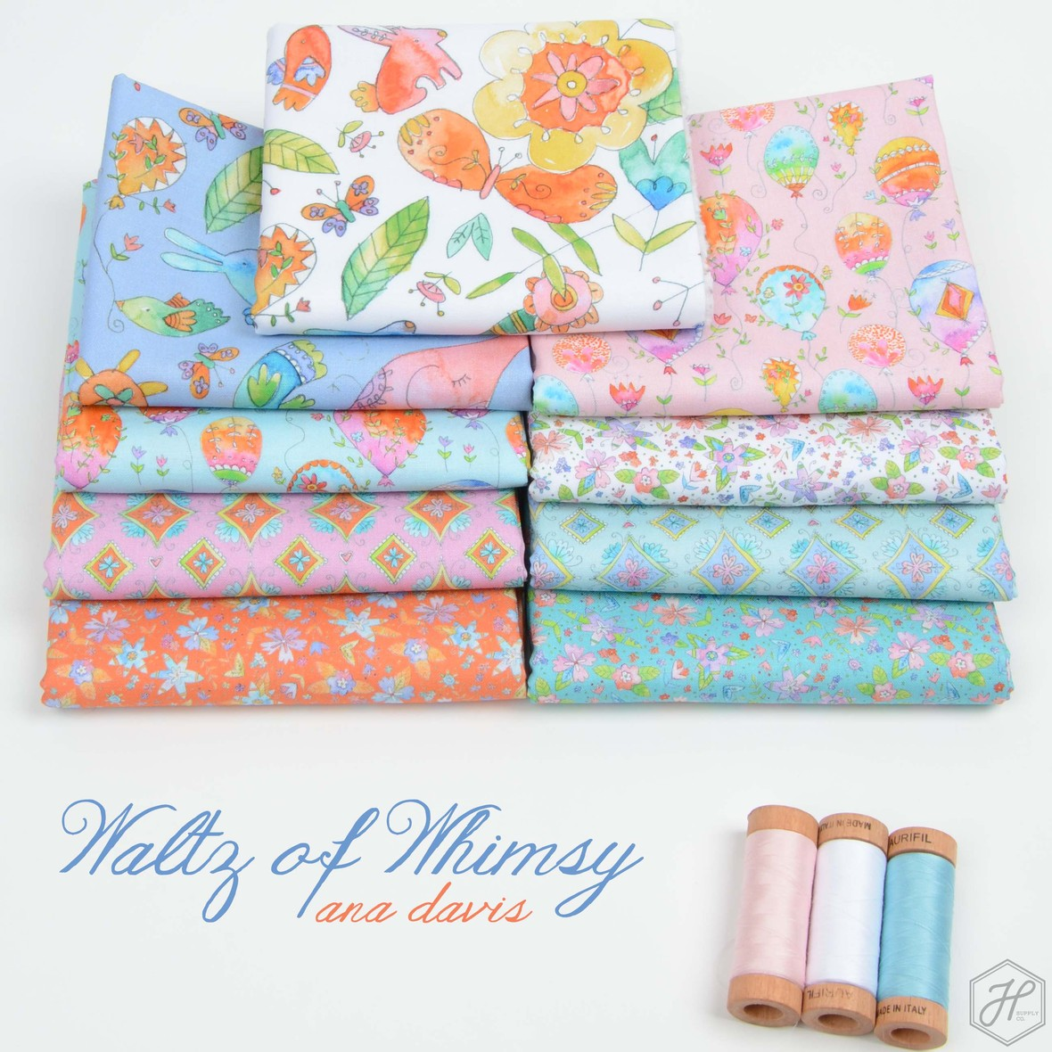 Waltz of Whimsy Fabric Poster