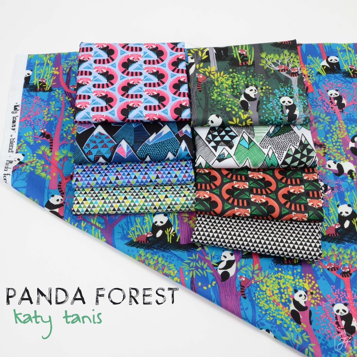 Panda Forest Fabric Poster