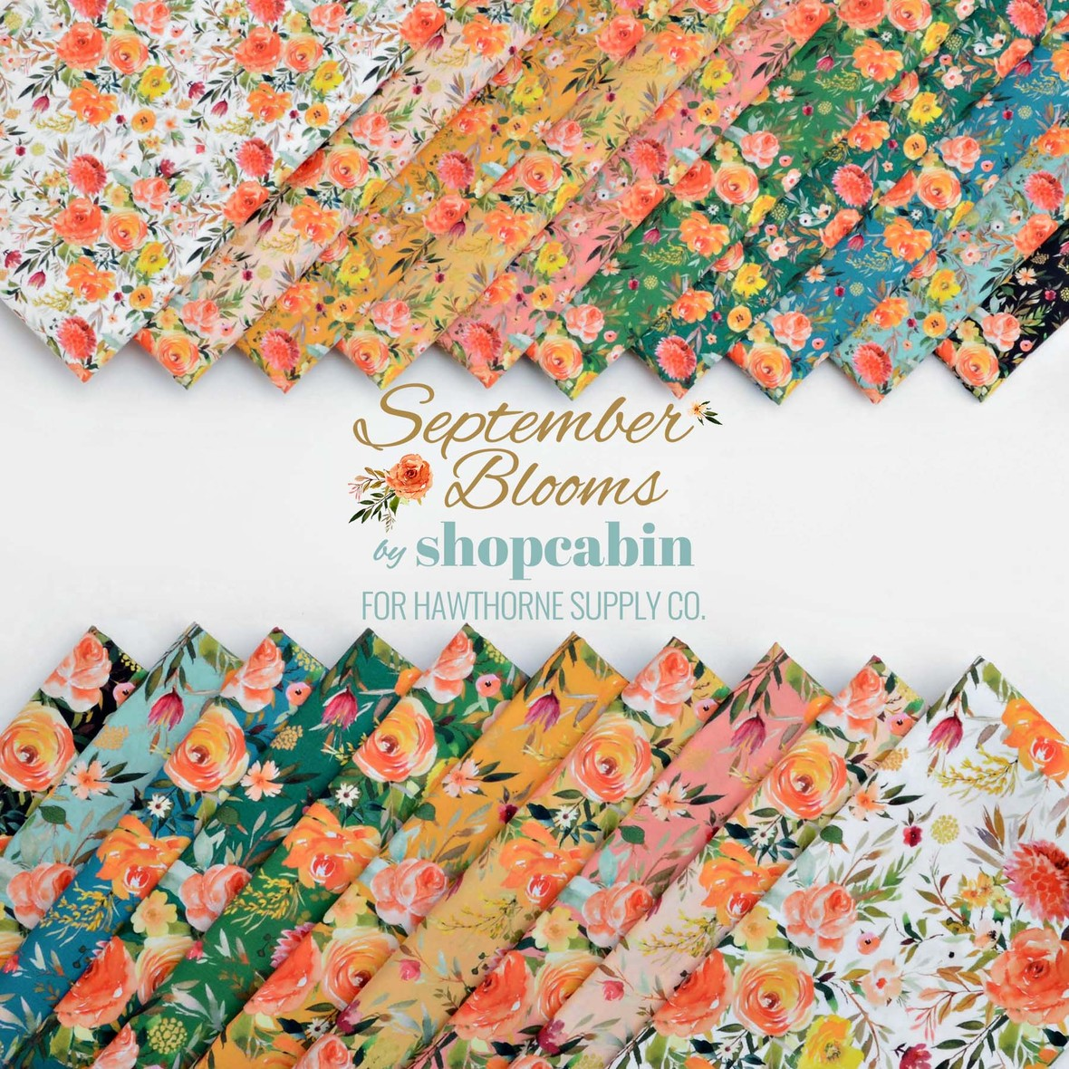Septemer Blooms Florals Poster Shopcabin Fabric for Hawthorne Supply Co