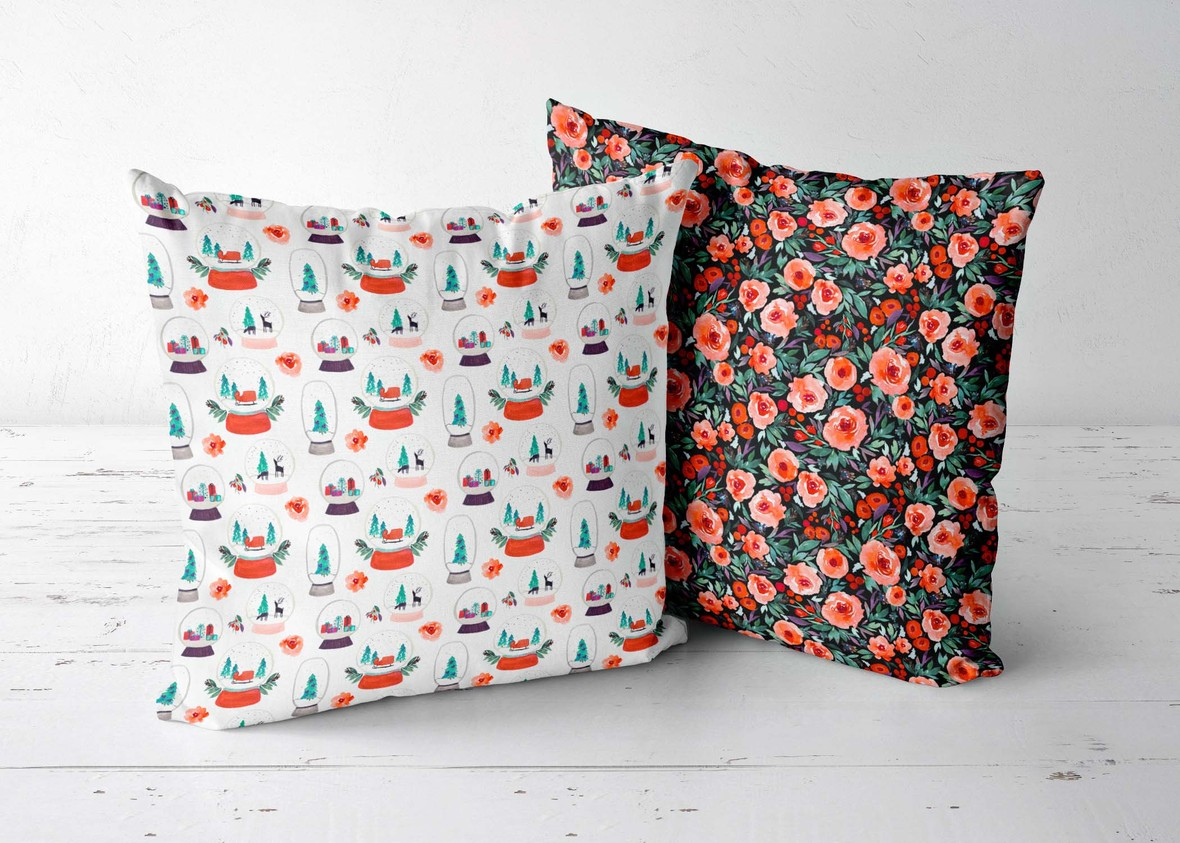 Winter Berry Fabric  Indy Bloom for Hawthorne Supply Co 20 inch pillows