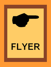 Pointing hand - FLYER - muted gold brown4 outer or FINAL