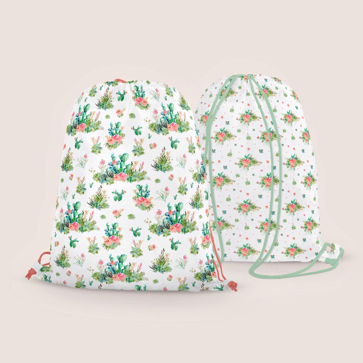 Western boho floral  Drawstring bags 2.1