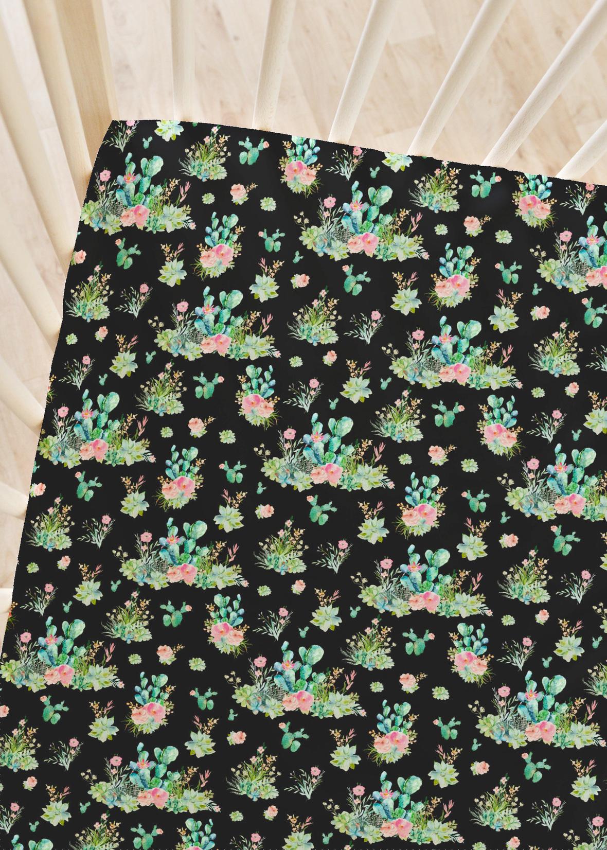 boho cactus black large 2