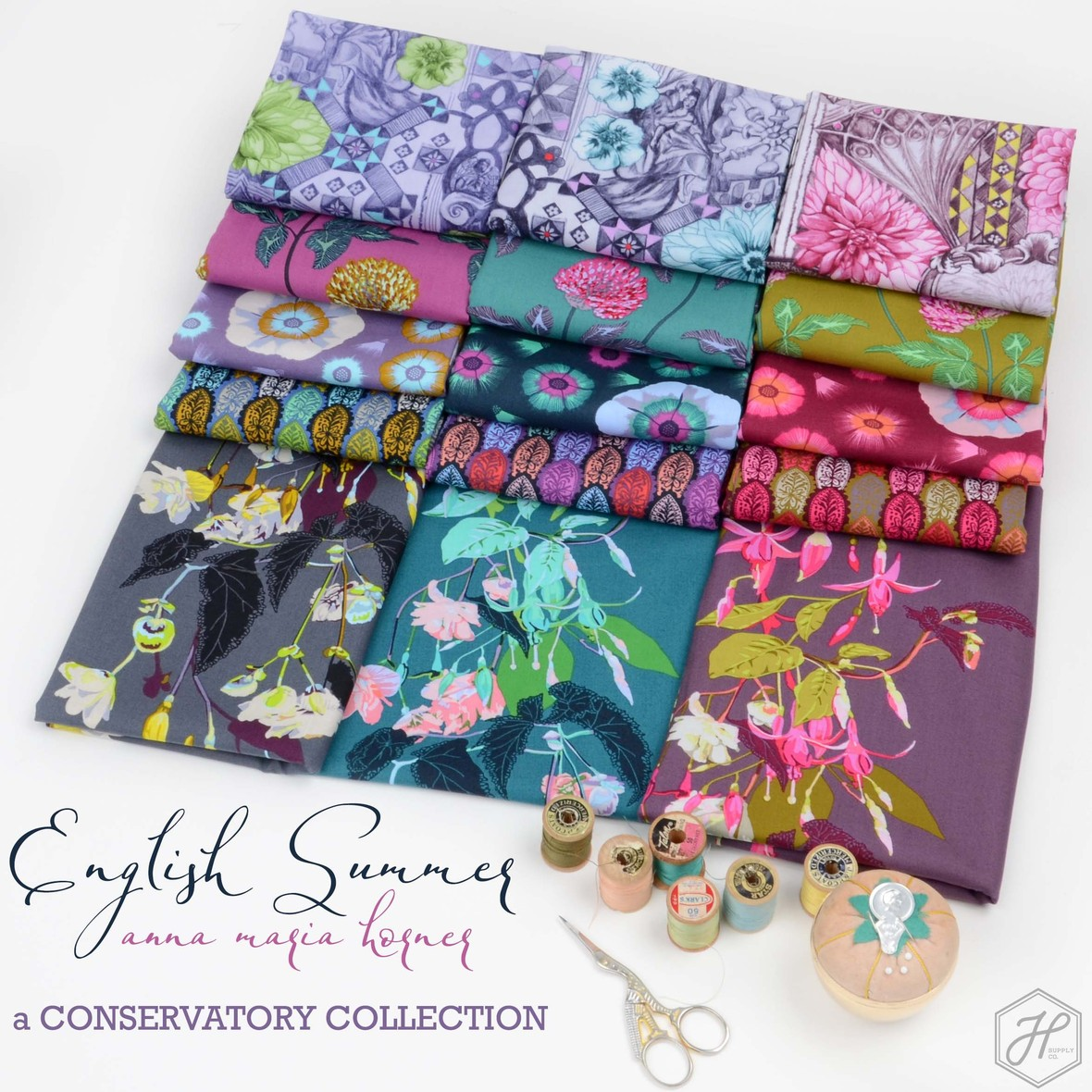 Anna Maria Horner English Summer Fabric at Hawthorne Supply Co