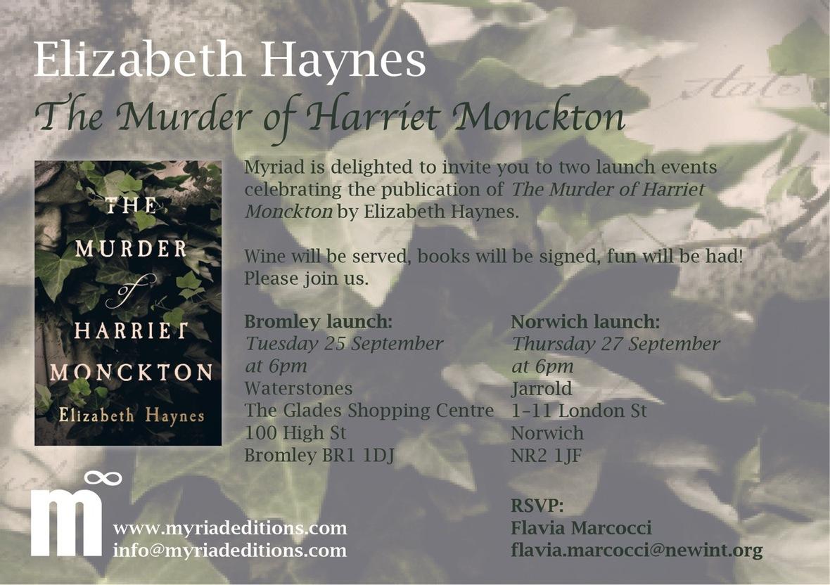 Elizabeth Haynes launch invitation free