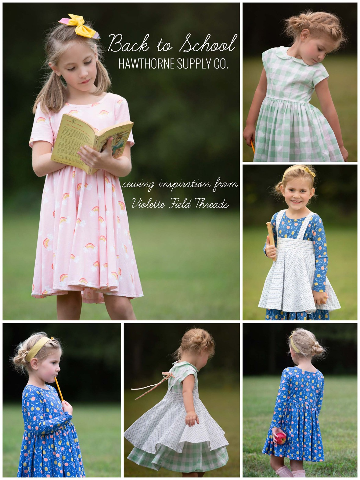 Back to School Sewing Violette Field Threads and Hawthorne Supply Co Knit Jersey