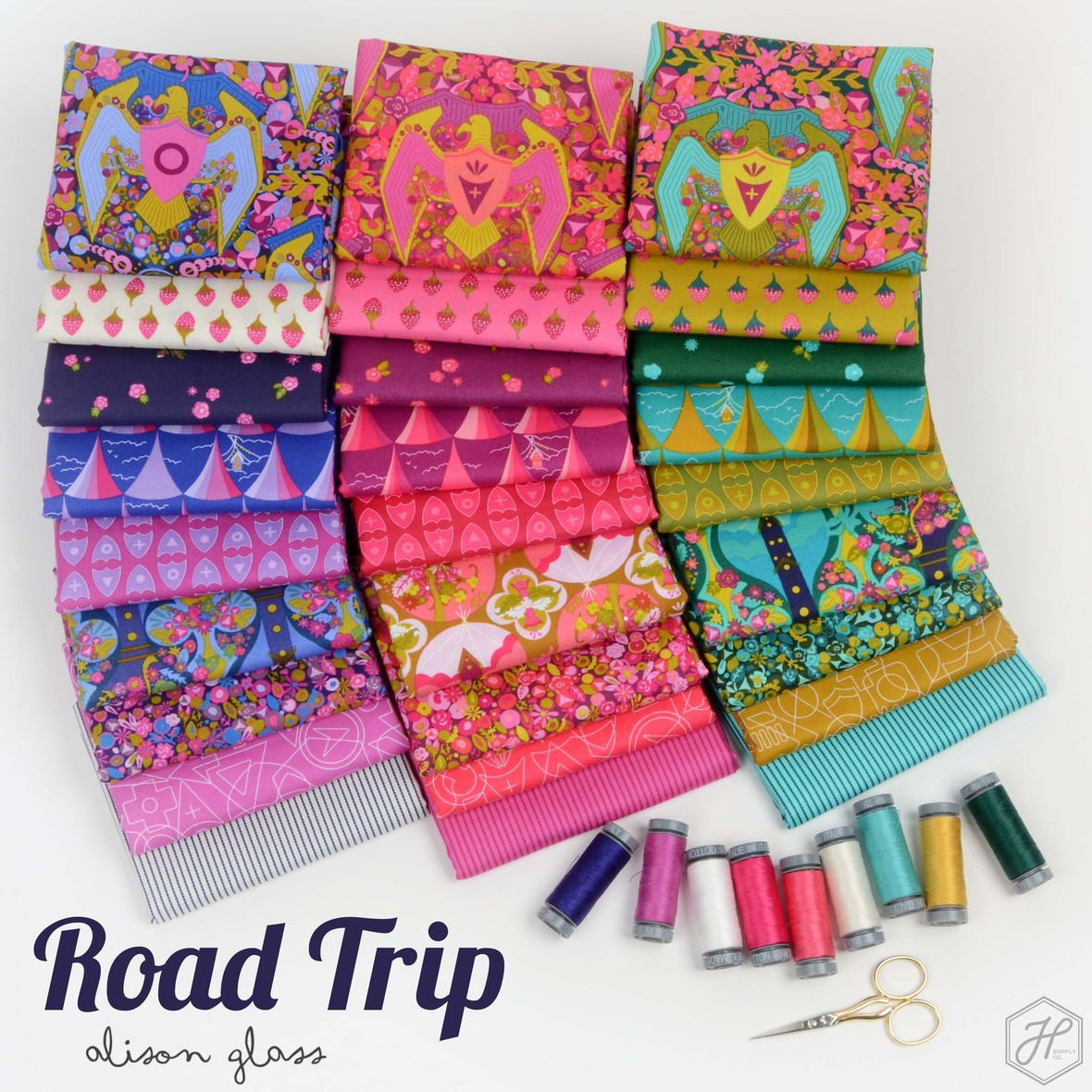 Road Trip Fabric Poster Alison Glass at Hawthorne Supply Co