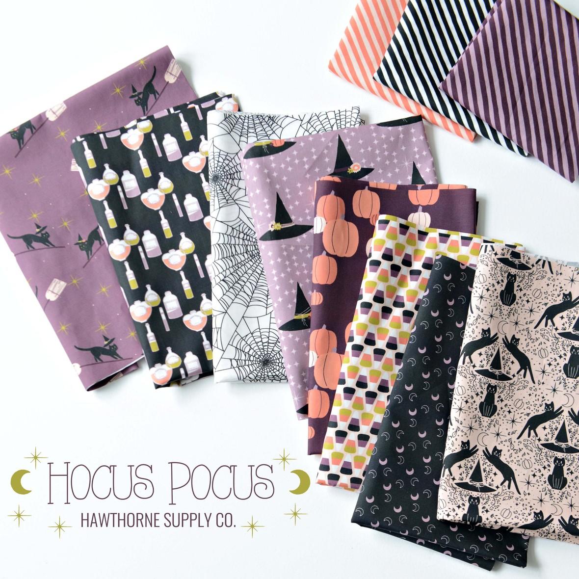 Hocus Pocus Fabric Poster Hawthorne Supply Co Halloween Fabric