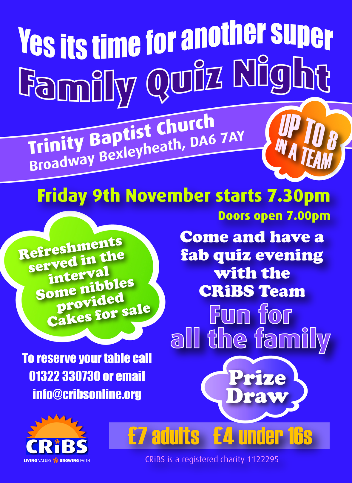Cribs quiz night Nov 2018