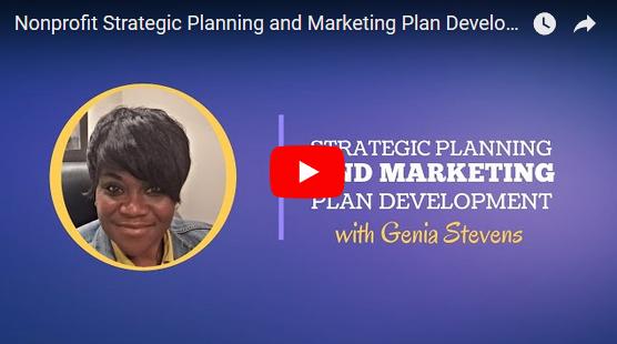 nonprofit strategic planning and marketing plan development