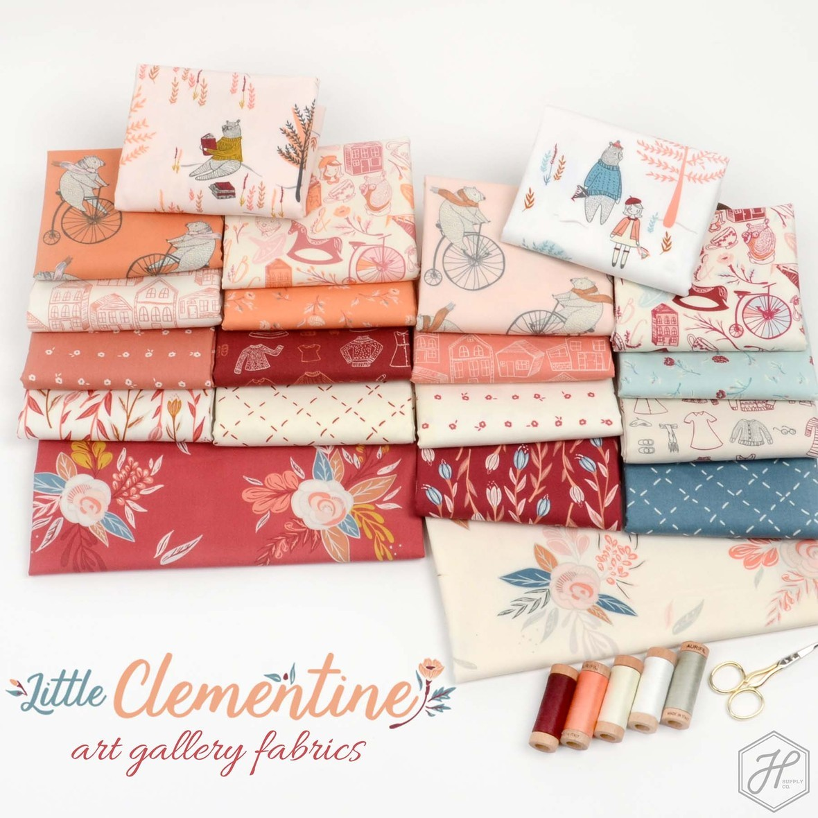 Little Clementine Fabric poster