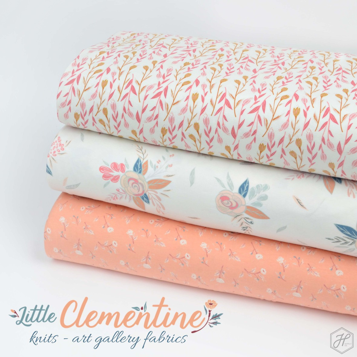 Little Clementine Fabric Knits ARt Gallery Fabrics at Hawthorne Supply Co