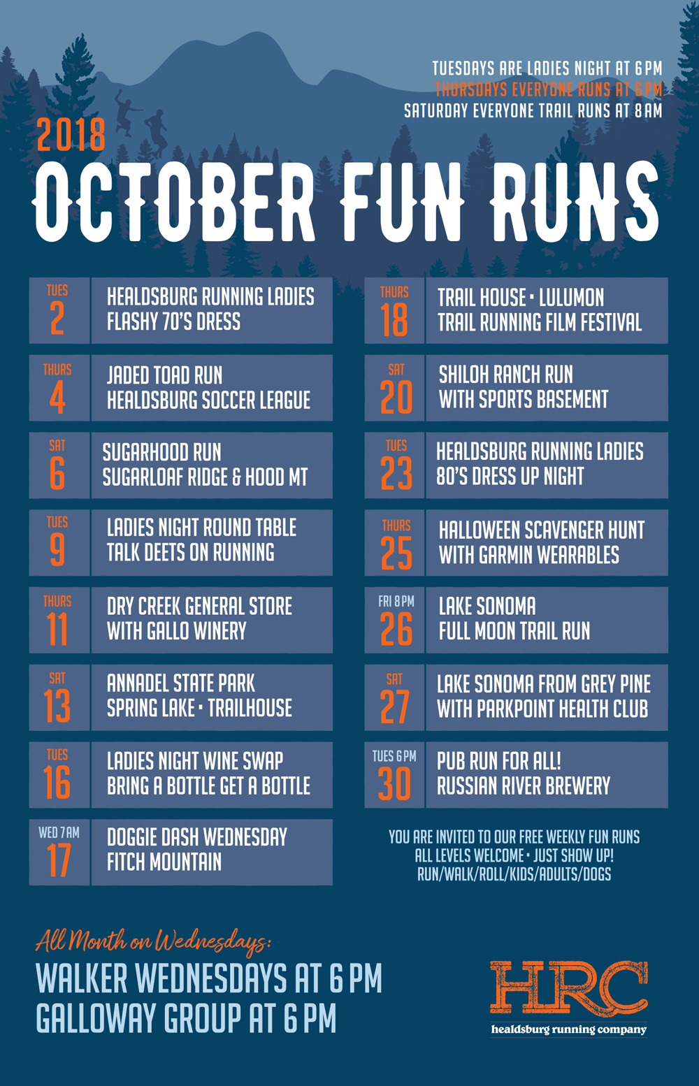 Oct2018 run sched poster