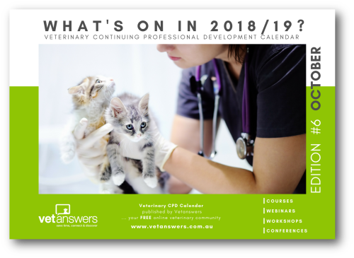 What s on in 2018-19 Veterinary CPD Calendar - Cover red