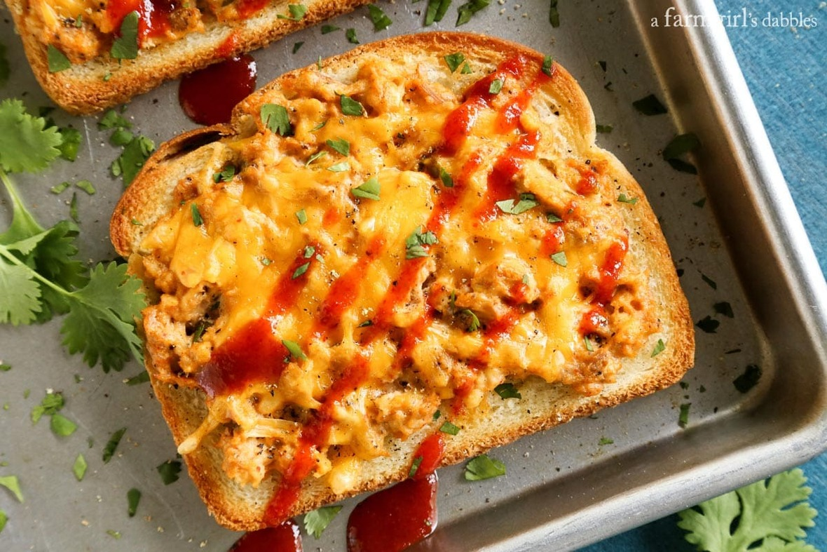 Cheesy-Sriracha-Tuna-Toasts AFarmgirlsDabbles AFD-3