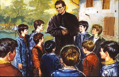 Don Bosco ensenando