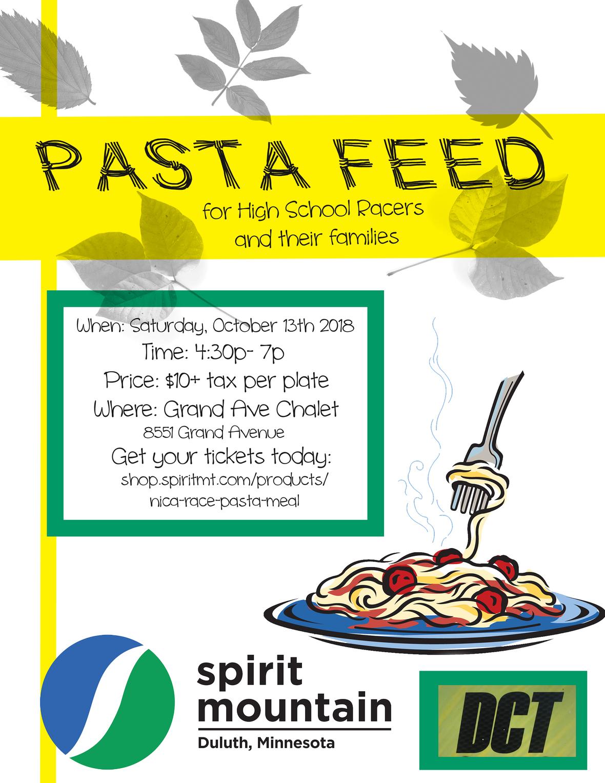 Pre-race pasta feed