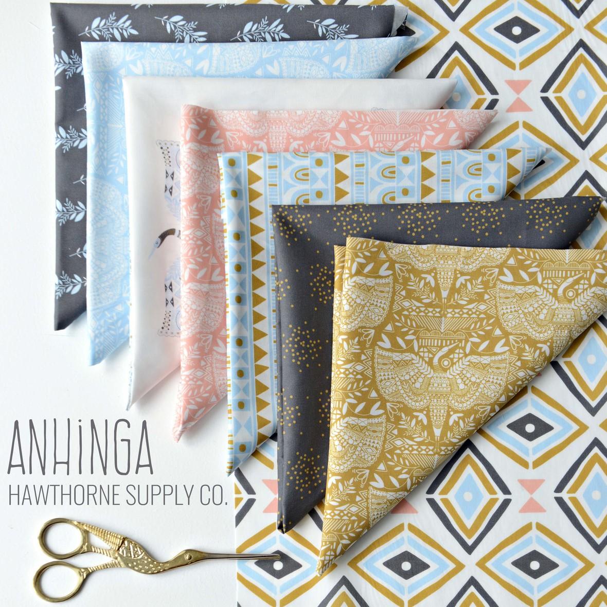 Anhinga Fabric Poster Hawthorne Supply Co b