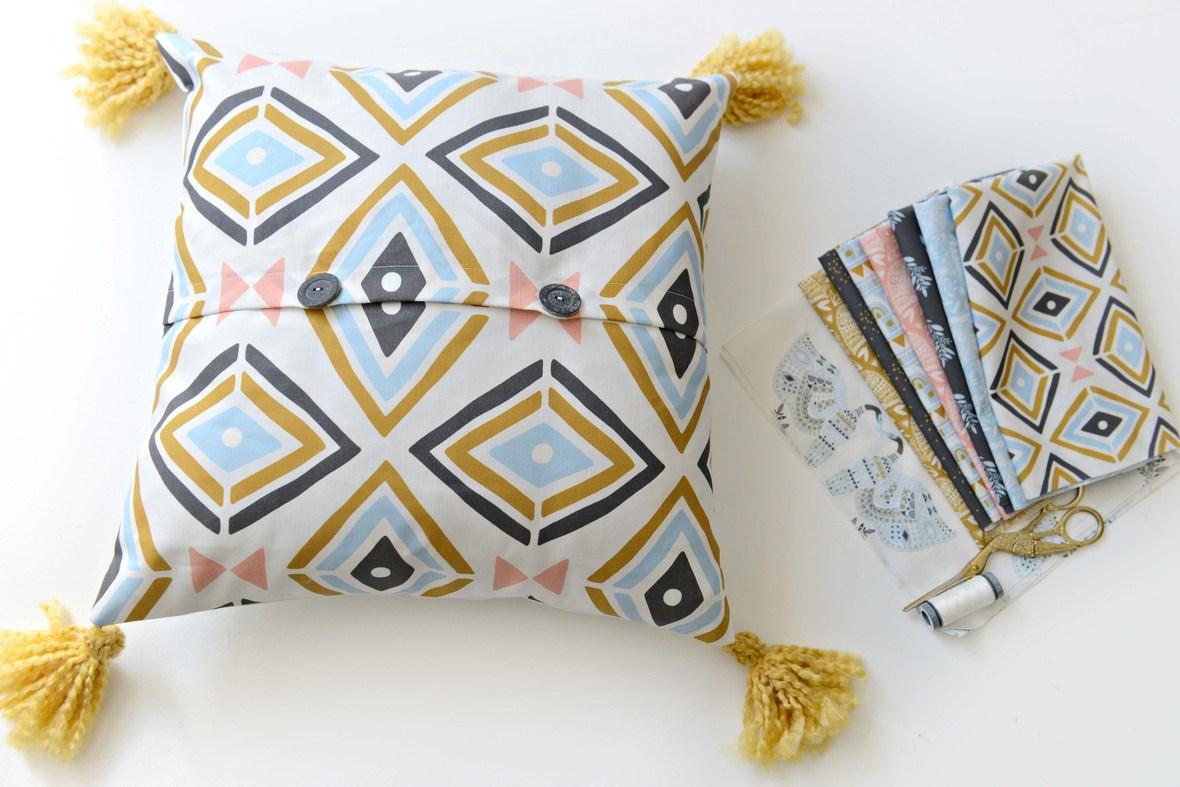 Anhinga Fabric Pillow Hawthorne Supply Co