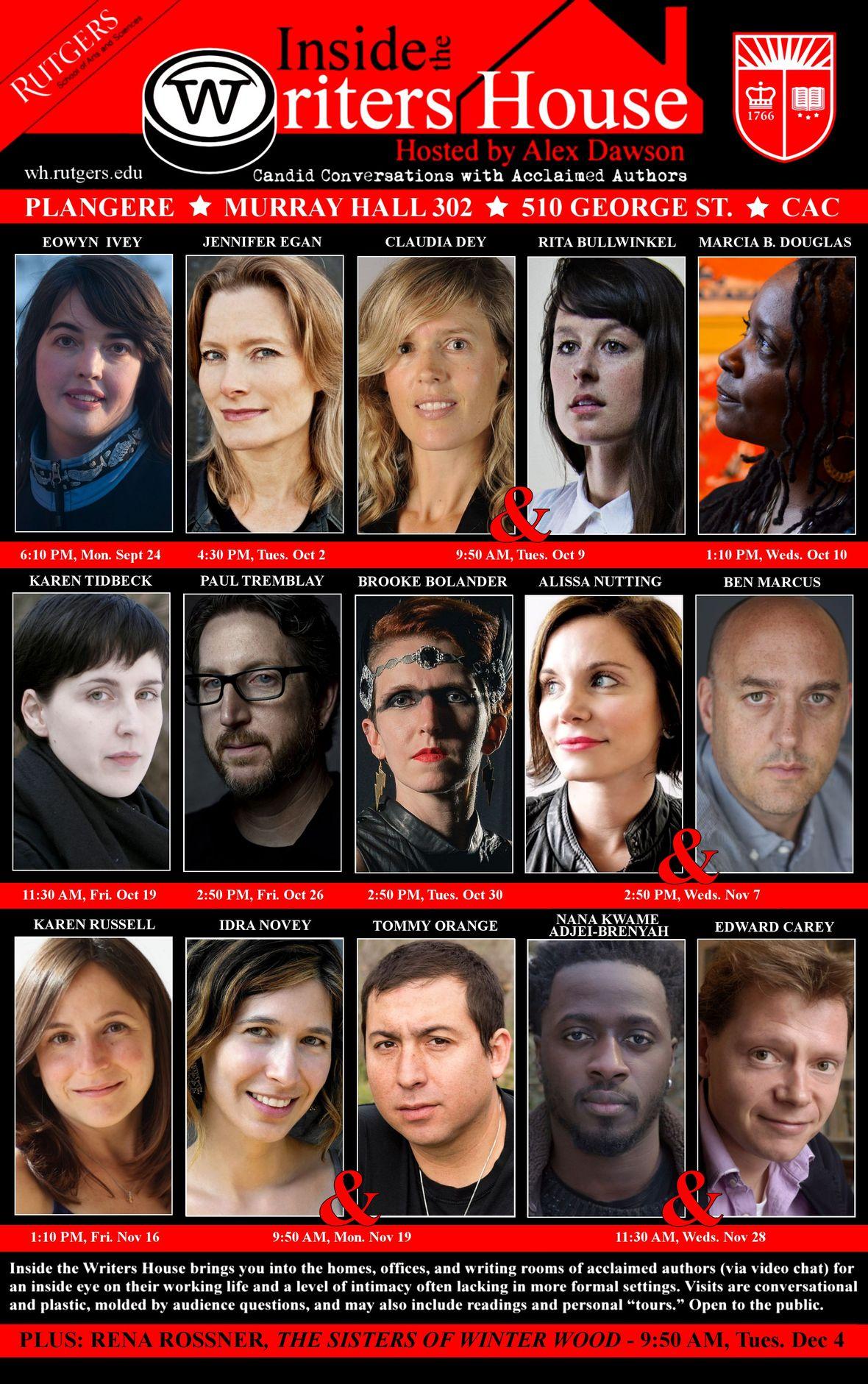 FINAL FALL 2018 INSIDE THE WRITERS HOUSE - Alex Dawson