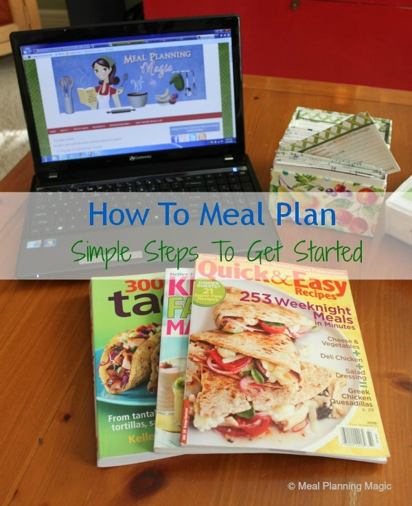 how to meal plan-words