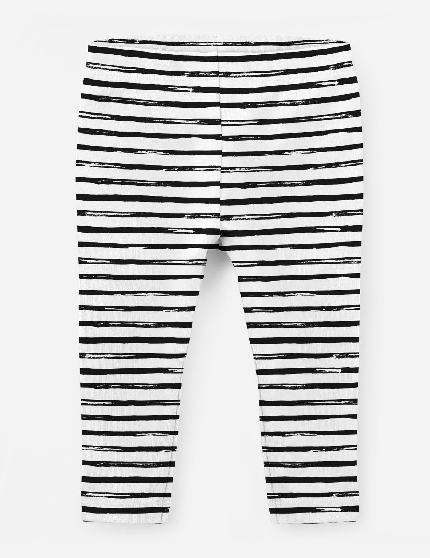 Leggings Black Stripes