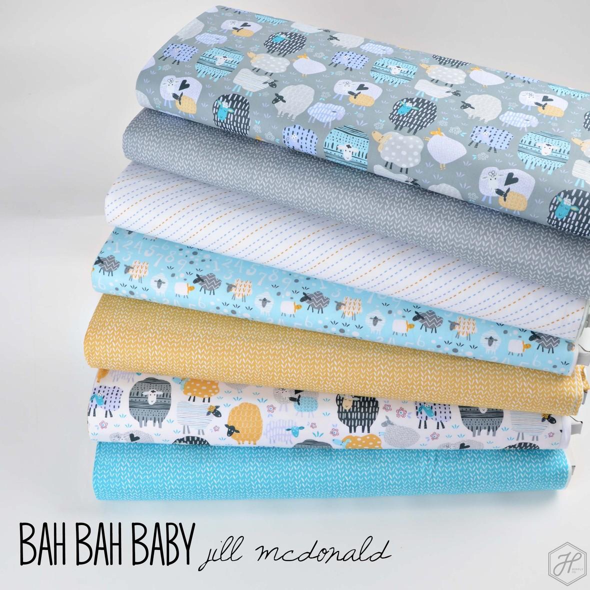 Bah Bah Baby fabric poster